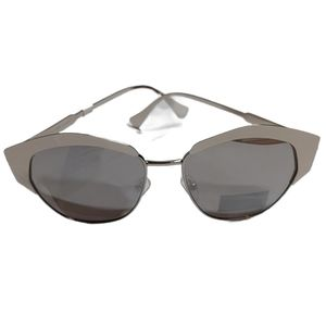 Joe's Jeans Silver Metallic Cat Eye Sunglasses